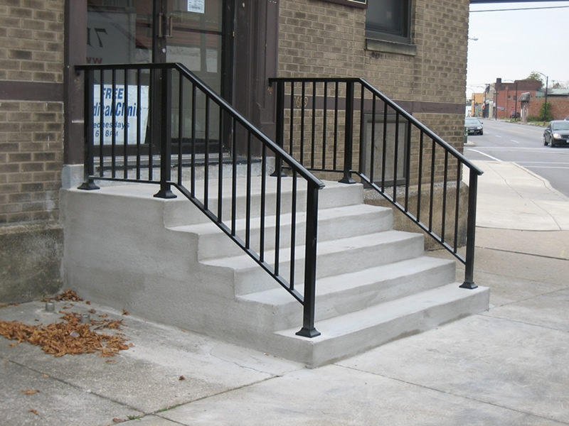 Aluminum Railings Old Dutchman S Wrought Iron Inc | Aluminum Railings For Steps | Porch | Wood Wall Mounted Stair | Solid Wood | Custom Treated | Modern
