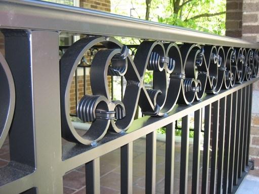 Aluminum Railings Old Dutchman S Wrought Iron Inc | Aluminum Railings For Steps | Verandah | Glass Railing | Pipe | Indoor | Glass Panel Wooden Handrail