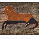 Hooked Dog Rug