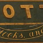 I.W. Cotton Trade Sign