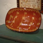 Large Redware Platter Shopkorn 3