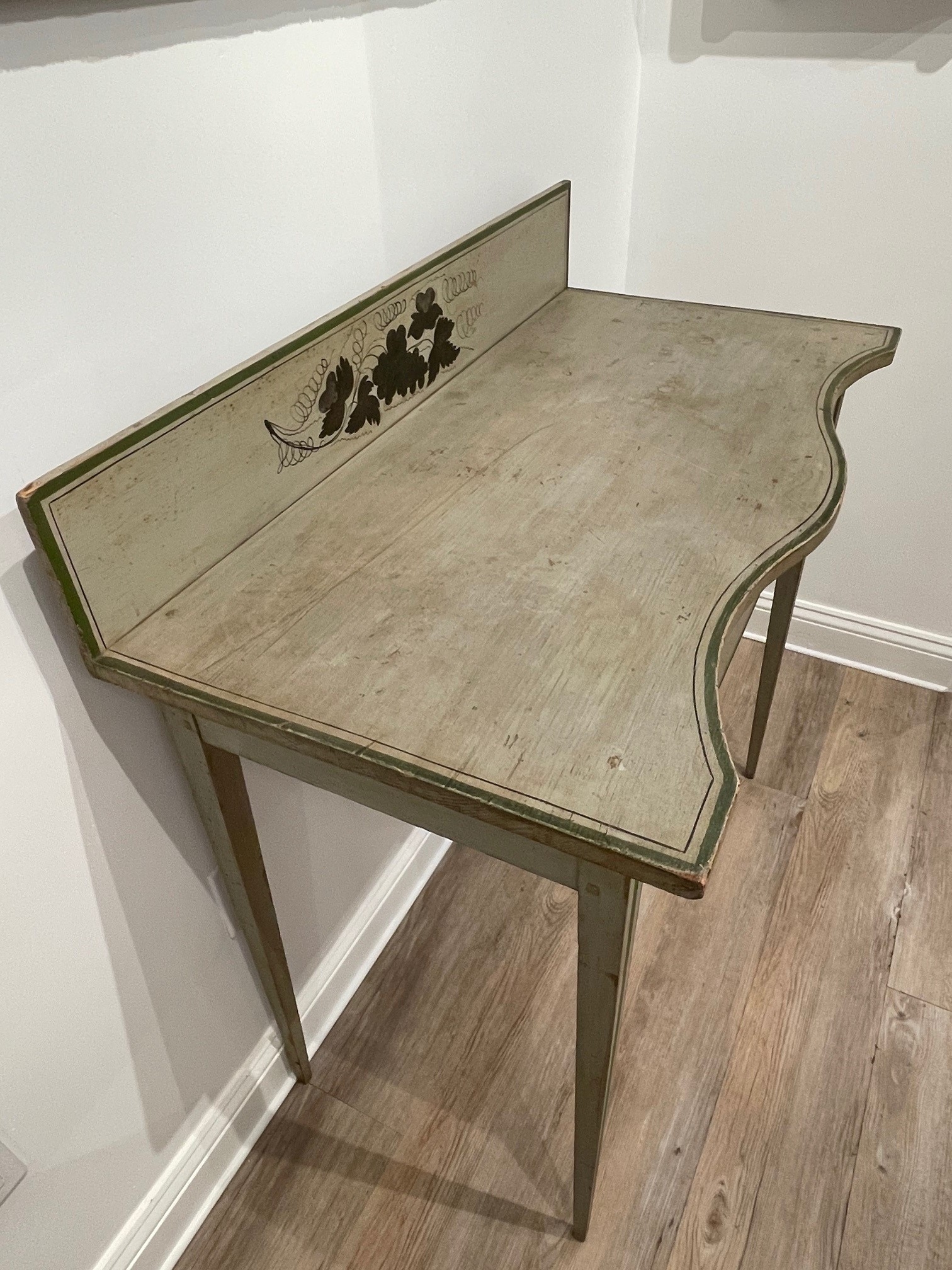 american folk painted serving table rel=