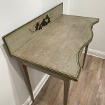 american folk painted serving table