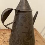 American decorated tin coffee pot