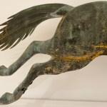 antique horse hoop weathervane