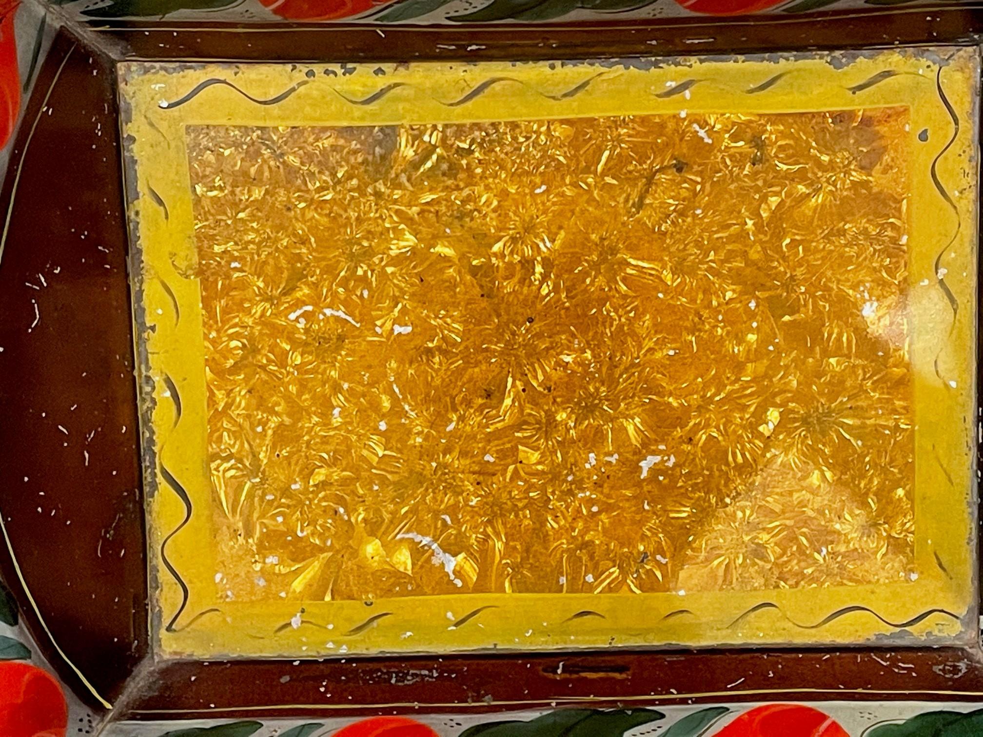 painted toleware bread pan rel=