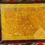 painted toleware bread pan