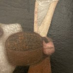 folk art portrait of a boy