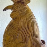 antique iron rooster weathervane