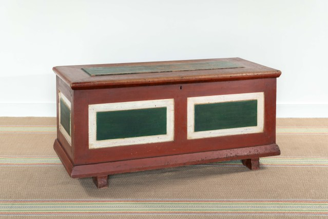 amish painted blanket chest