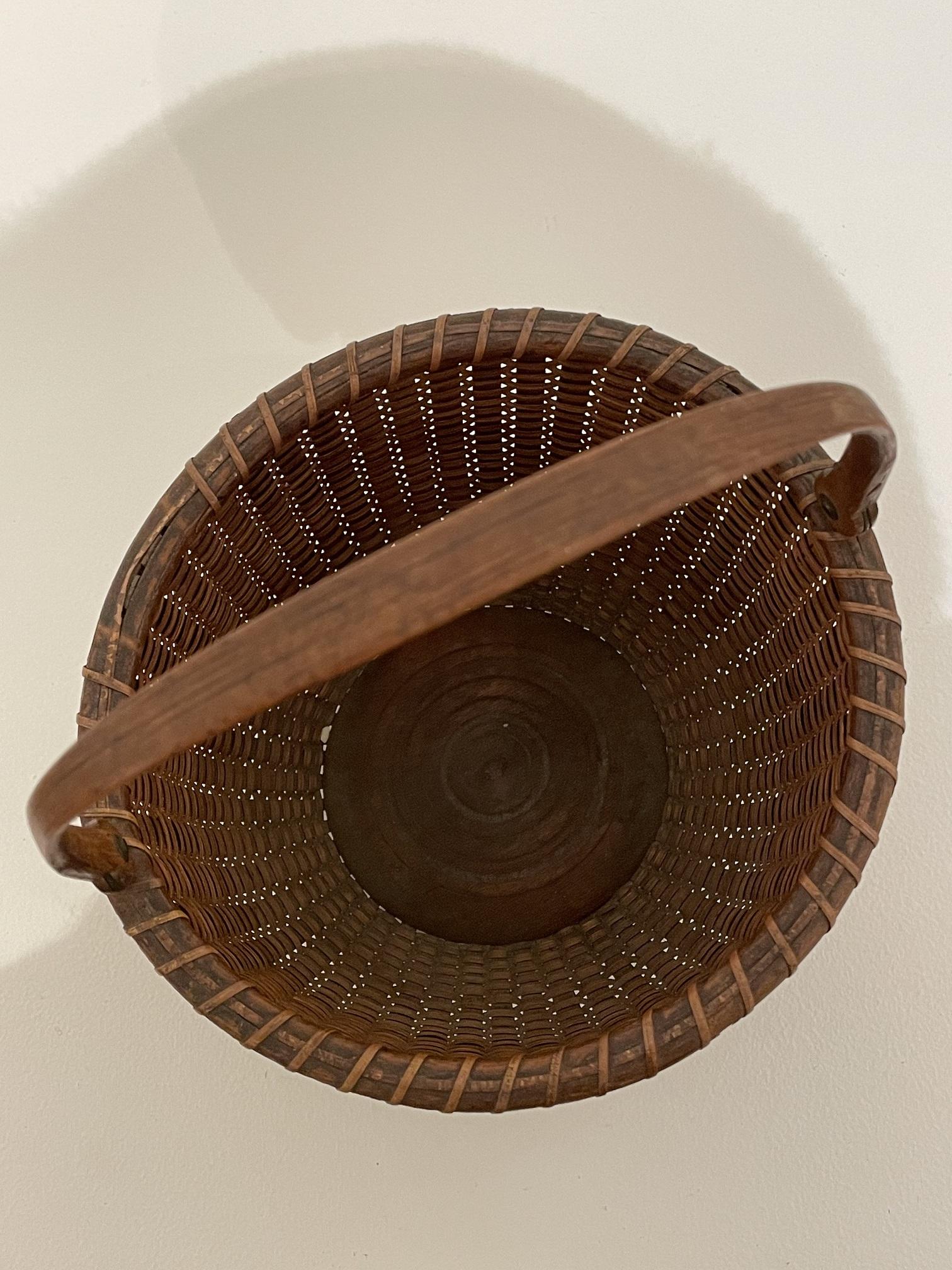 antique nantucket lightship basket rel=