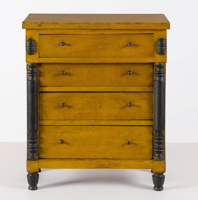 antique painted child's chest