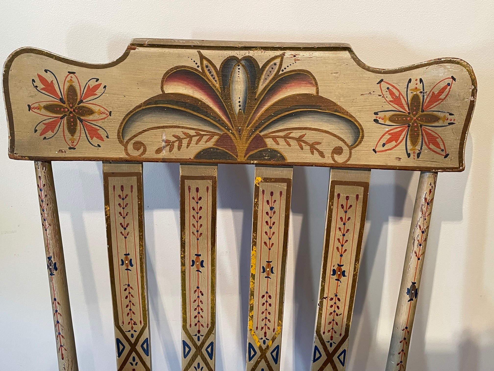 american decorated rocking chair rel=