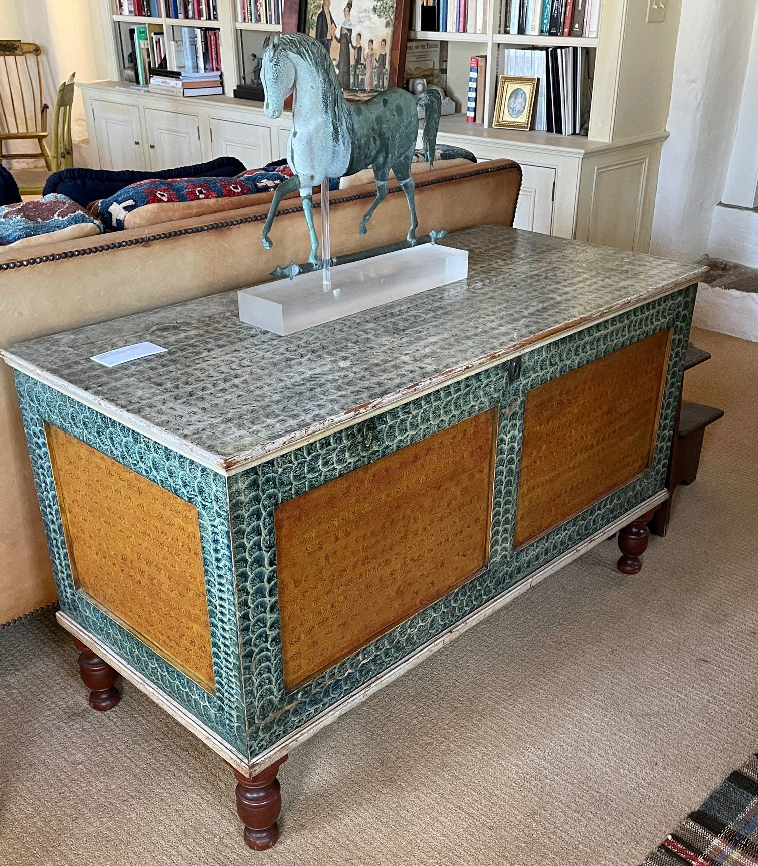 antique painted blanket chest rel=