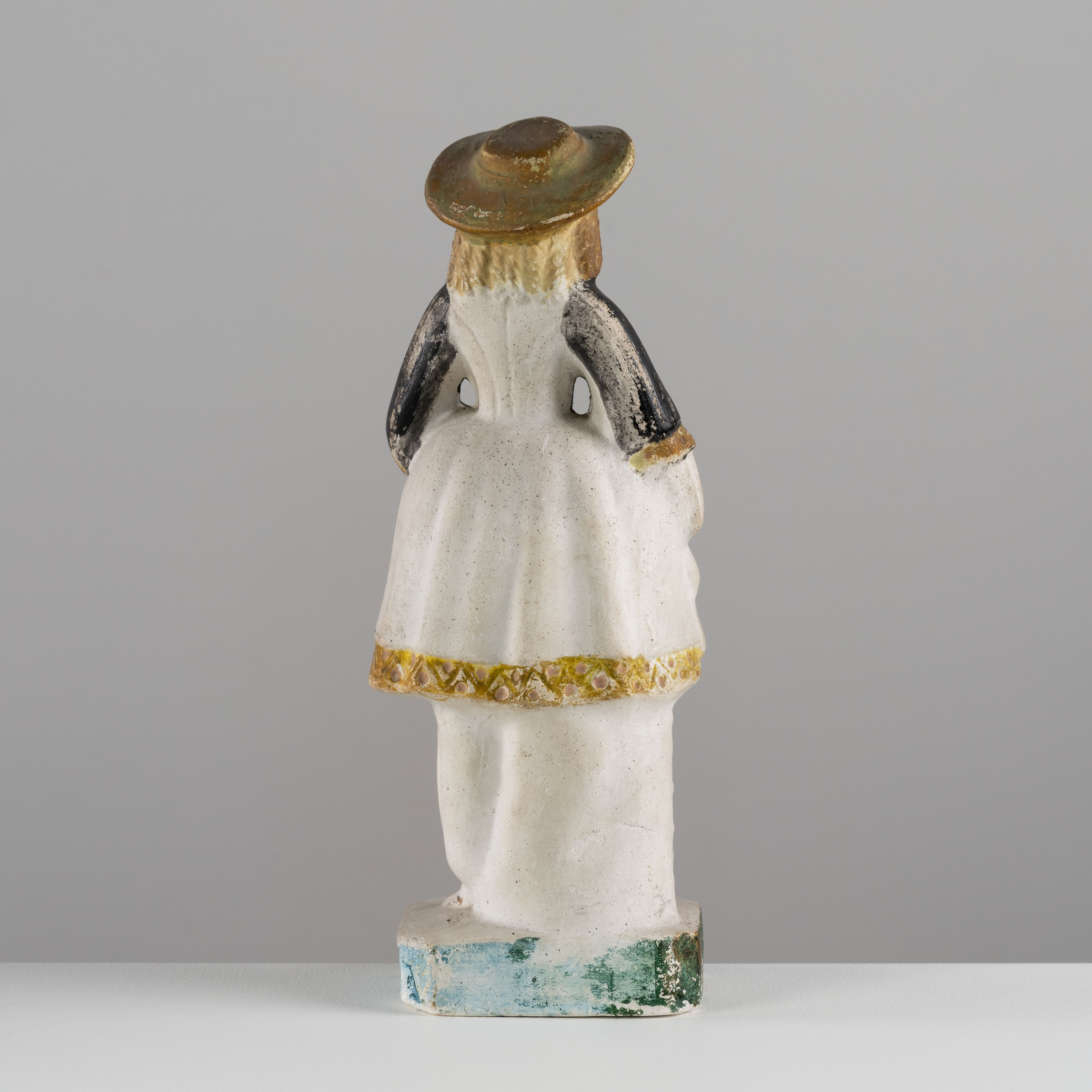 antique chalkware lady figure rel=