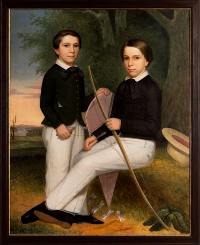 folk portrait two brothers