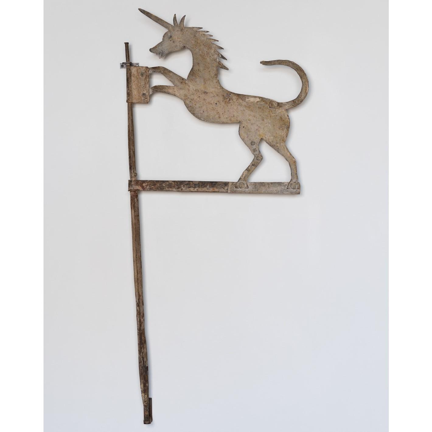 antique iron unicorn weathervane rel=