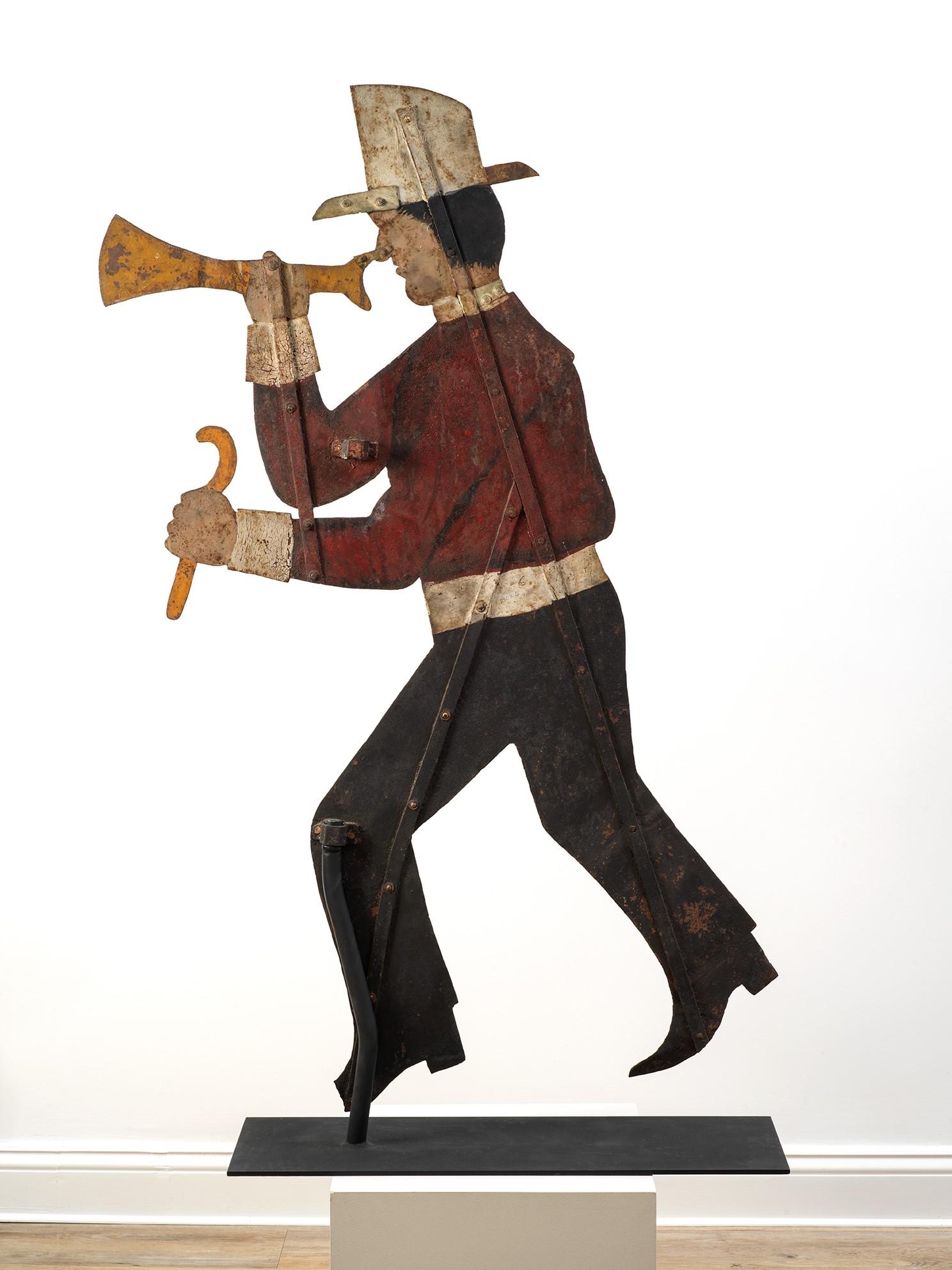unique antique fireman weathervane rel=