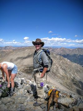 Henry Malmgren on top of Gray's Peak