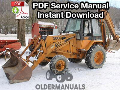 Case 580C Tractor Loader Backhoe Service Manual