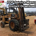 Case 584C, 585C, 586C Forklift Service Manual