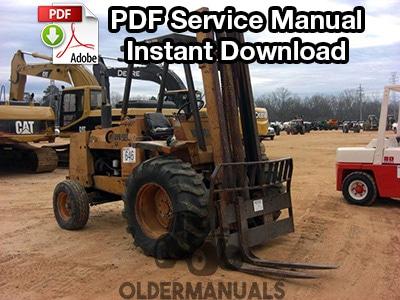 Case 584C, 585C, 586C Forklift Service Manual