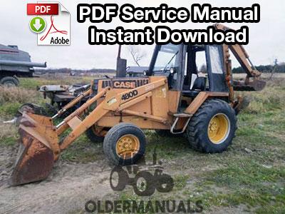 Case 480D, 480LL Tractor Loader Backhoe Service Manual