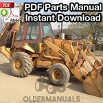 Case 680K Tractor Loader Backhoe Parts Manual