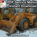 Case W8C, W9C, W10C Wheel Loader Service Manual
