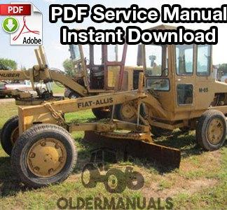 Fiat-Allis M65 Motor Grader Service Manual