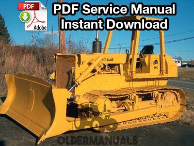 Fiat Allis 14C Crawler Dozer Service Manual (with 8205 Engine)