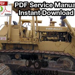 fiat allis fdb crawler dozer service manual com fiat allis fd20 crawler dozer service manual