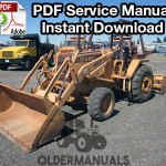 Case 480F, 480FLL Construction King Tractor Loader Backhoe Service Manual