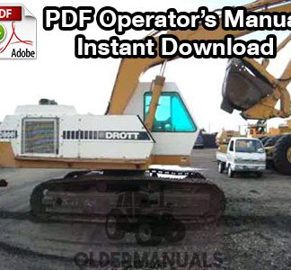 Drott 40E Crawler Excavator Operator's Manual