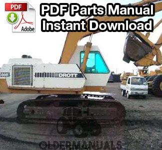 Drott 40E Crawler Excavator Parts Manual