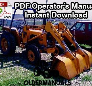 Case 380 Tractor/Landscape Loader Operator's Manual