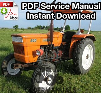 Fiat 480, 500S, 540S, 640 Tractor Service Manual