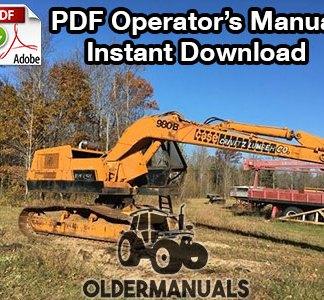 Case 980B Excavator Operator's Manual