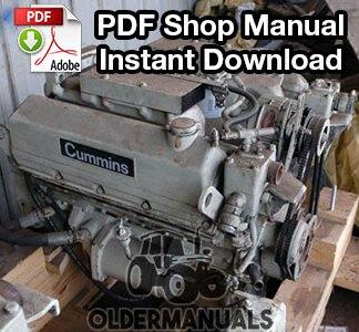 Cummins V/VT 378, 504, 555 Diesel Engine Shop Manual PDF Download