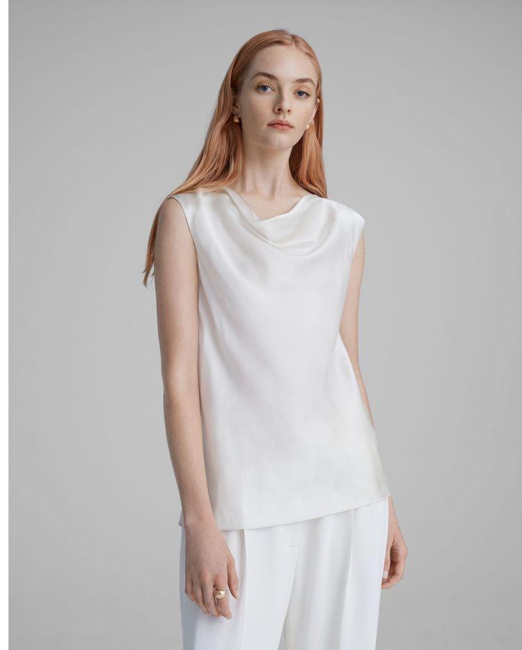 How To Wear White - Club Monaco White Silk Blouse