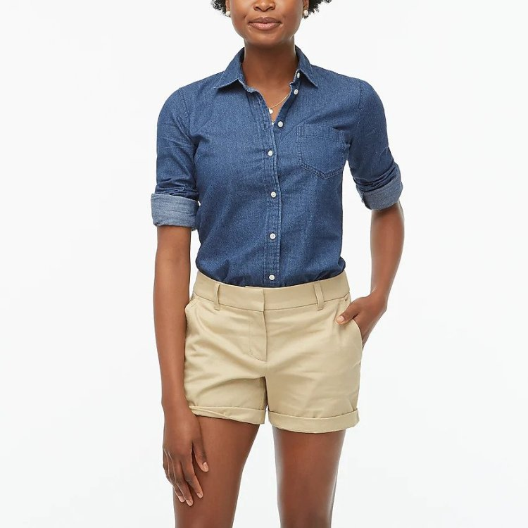 J. Crew Chino Shorts - Cute Summer Outfits