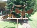 Two birds feeding : $340