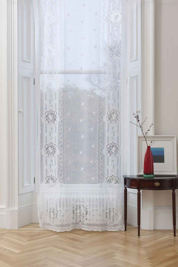 Cotton Lace Curtain-Cherubs