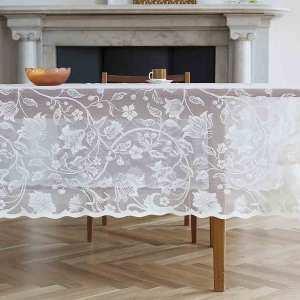 Flora Cotton Lace Tablecloth