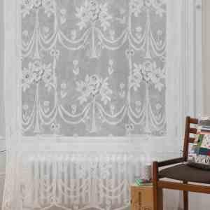 Cotton Lace Curtains - Secret Garden