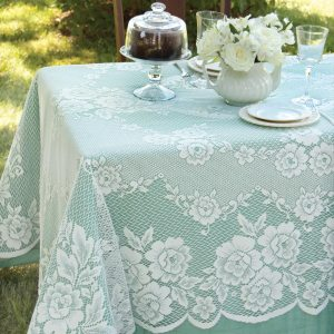 Floral Lace Tablecloth - Victorian Rose