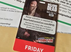 My badge for this year's NYCC.