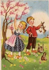 Vintage Easter Card Non Attributed Old Fashioned Holidays