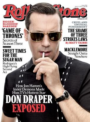 don draper's sunglasses rolling stone 2013