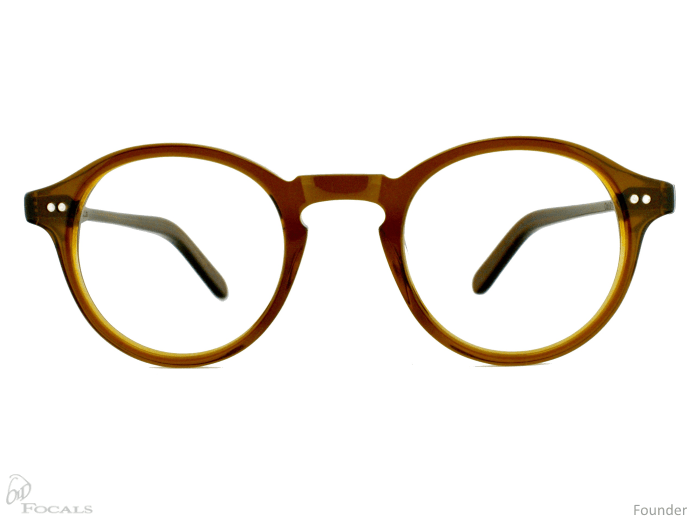 Old Focals Founder frame in brownsmoke